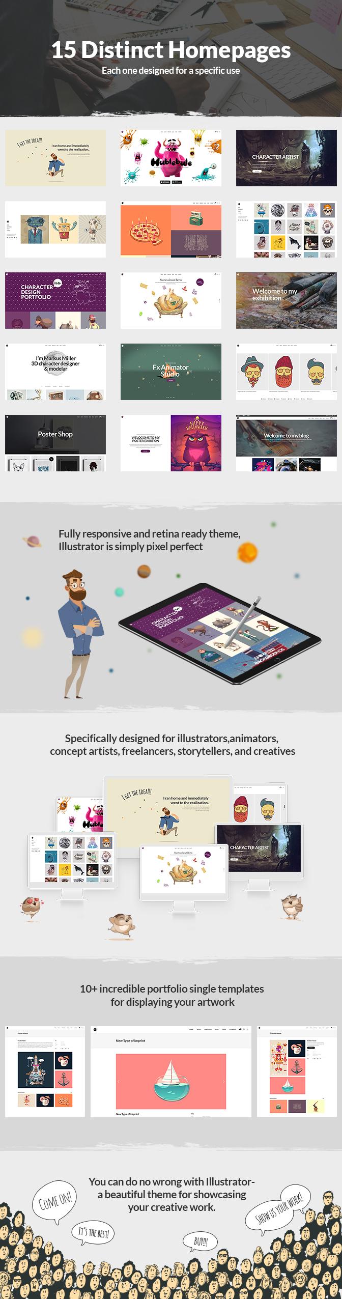 Illustrator – A Portfolio Theme for Illustrators, Designers, and Artists (Portfolio)